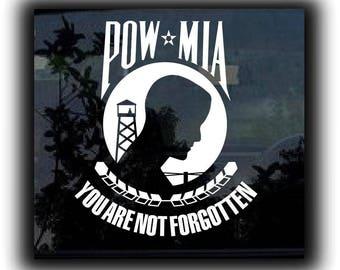 POW MIA MIlitary Window Decal Sticker
