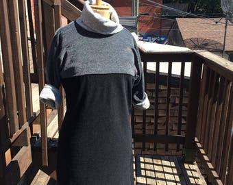 Cozy Velour Cowl Neck Balmain Dress