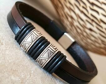 Gift for Man Leather bracelet Men bracelet Leather Bracelet Birthday Gift for him Mens Gift Anniversary Gift for men
