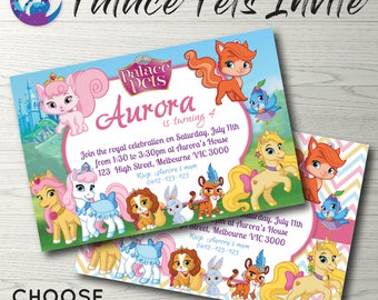 Whisker Haven Tales Palace Pets Invitation, Palace Pets Party, Palace Pets Birthday Invitation Whisker Haven Invitation Whisker Haven Party