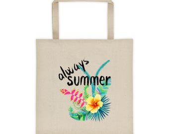 Always Summer - Tropical Island Vacation Floral Beach/Tote bag