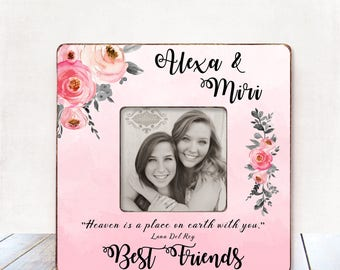 Best friend gift personalized picture frame Best friend gift Christmas Best friend Picture Frame Best friend Birthday Gift Best Friend Frame