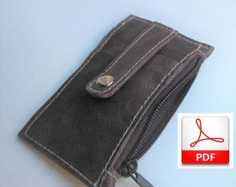 Minimalist Wallet -  Wallet Pattern PDF to Make this Leather Wallet Slim, Sewing Patterns