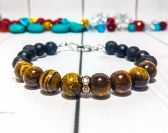 Tiger eye bracelet Brown jewelry Clothing gift Gemstone bracelet Genuine gemstone Healing bracelet Energy bracelet Tiger eye jewelry