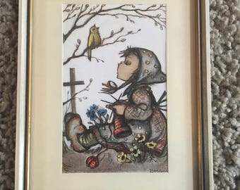 Hummel Print - Girl and Bird