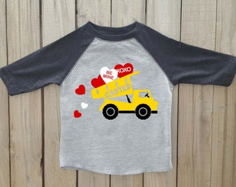 dump truck valentine shirt, Boys valentine shirt, valentines day shirt, dump truck shirt, valentines shirt, kids valentine shirt, dump truck