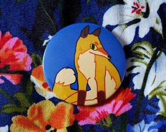 fox button - badge - pin