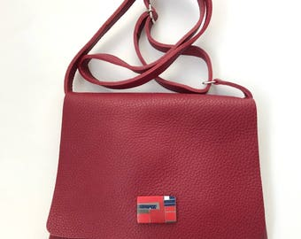 Bzero bag in Bordeaux 02 Leather shoulder Bag