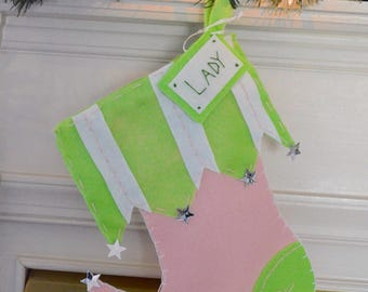 """Personalized Pet Christmas Stocking - """"The Star"""""""