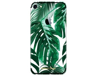 Green Palm Leaves iPhone Skin Decal Iphone 6 6S 7 PLUS 7 8 iPhone X PLUS Iphone Skin Iphone Cover Iphone Sticker Decal For Phone Sticker