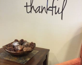 Thankful Metal Home Decor