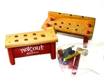 Playskool Workbench and Nokout Bench
