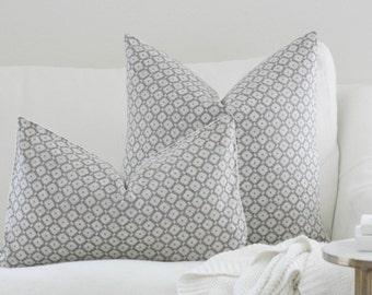 Grey Pillow, pillow cover, farmhouse pillow, accent pillow, accent pillow cover, diamond pillow cover