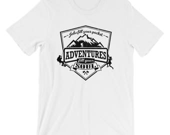 Hiking UNISEX T-Shirt Mountain Climbing Adventure Trekking Shirt