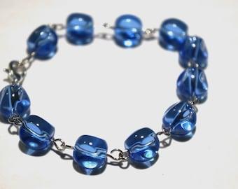 Blue Glass Bracelet