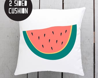 watermelon pillow, watermelon cushion, melon home wares, melon theme