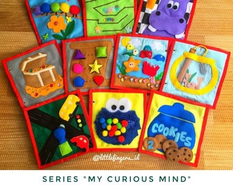 "VOL 1 ""My Curious Mind"" Quiet Book, Busy Book, Toddler Activity Book"