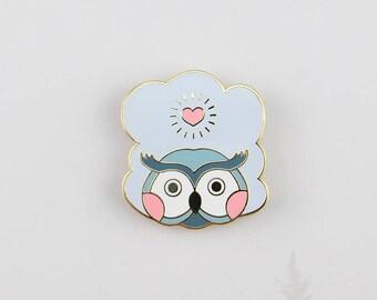 Cloud Owl - Forest Elements enamel pin