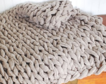 Large Arm Knit Blanket