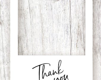 Thank You TEMPLATE - Printable Template and Digital Download