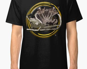 Vintage 1938 Crocker inspired Motorcycle engine TShirt INISHED Productions