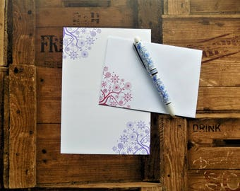 Floral Corners Letter/Writing/Stationary Set