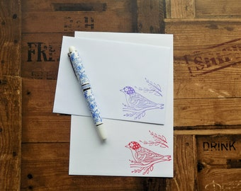 Patterned Bird Letter/Writing/Stationary Set