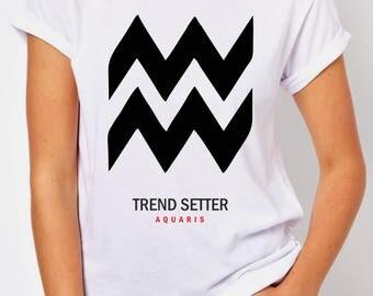 T-SHIRT AQUARIS / tshirt artistic / tee signs / tshirts horoscope / tees zodiac / tshirt birthdays / gift / clothing