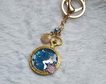 The little mermaid water effect pocket watch