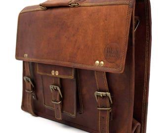 Briefcase | Messenger Bag | Laptop Bag | Notebook Bag | Shoulder Bag | Real Leather | Vintage-Ben HAYLEN ' Imstraight '