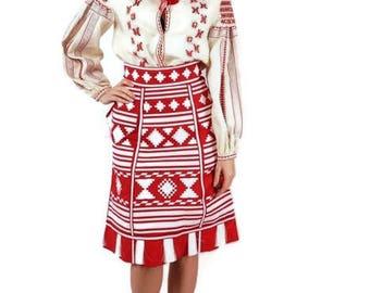 Vyshyvanka Woman Boho Ukrainian Embroidery Custom Boho Skirt Linen Boho Clothing Embroidered Set Bohemian Skirt Vishivanka Chic Nationale