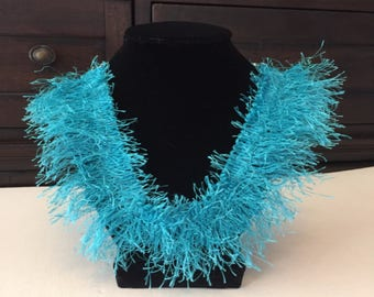 Turquoise Yarn Necklace