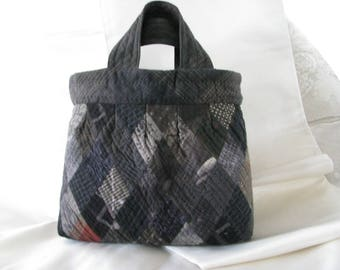 Boro diamond pieced hand bag