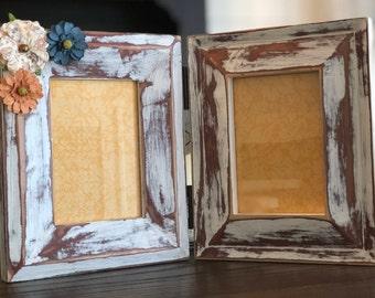 multi picture frames 2 5x7 original pottery barn heavily distressed - Multi Picture Frame
