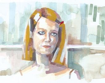 The Royal Tenenbaums - Margot Tenenbaum - I'm Fine, Thank You - Art Print - 8x14 in.