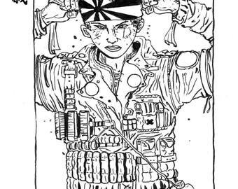 Kamikaze _ illustration _ Print