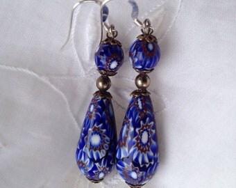 Vintage venetian glass earrings