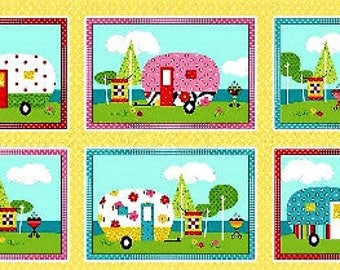 Quilt Camp, Henry Glass, Barbara Jones, QuiltSoup, Fabric Panel