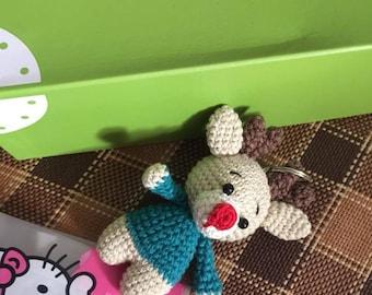 Reindeer Christmas Amigurumi art Crochet Locking hook Christmas decorations
