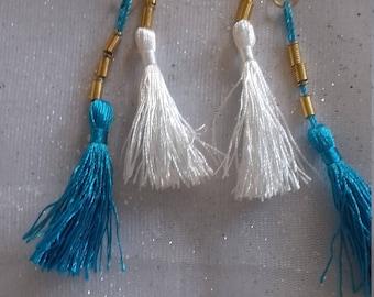 Long Cotton earrings