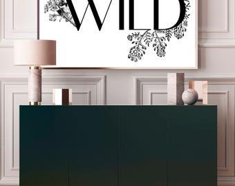 WILD botanical A3 printable
