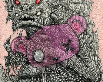 Monster Well -- art print