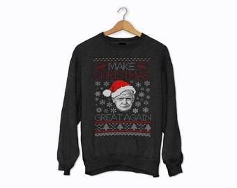Donald Trump Make Christmas Great Again Ugly Christmas Sweater