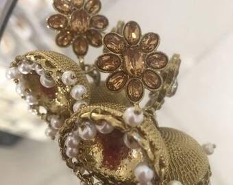Beautiful indian bollywood jumka style earrings