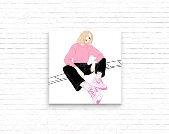 Pink Illustration / Print