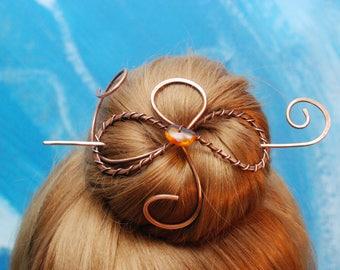 Hair Jewelry Hair Stick Bun Pin hair barrette hair clip hair brooch hair clip barrette hair slide barrette wire jewelry gift for women.