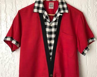 1950s Vintage Campus RnR Shirt Lurex Deatail