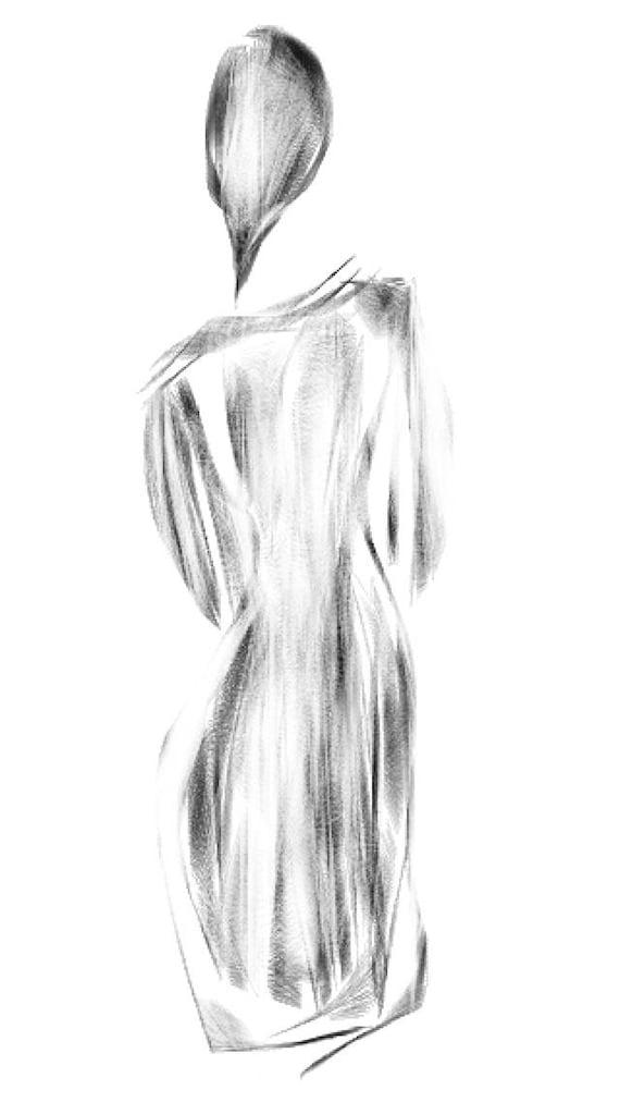 Woman in black - back turned - Minimalist Fine Art Print.