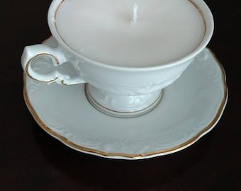 Rose-Scented Tea Cup Candle