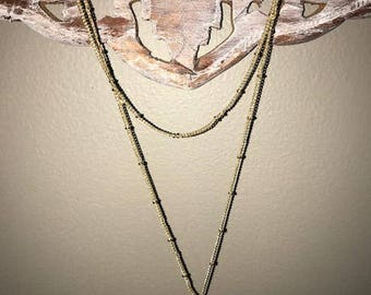 Gold plated chain with natural stone